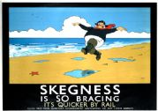 Skegness Is So Bracing, Lincolnshire. LNER Vintage Travel Poster by John Hassall, 1926